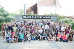 Group photo op outside the Opry